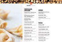 menus & design