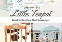 Jennylyn's Natural Nursery Tones for Tots / Fusion Mineral Paint's Tones for Tots collection of 7 beautiful nursery colours that aren't just for tots!