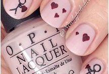 Valentines nails art