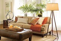 Beige sofa decor