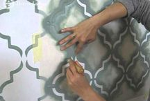 How to / Hogyan csináld - VIDEOS / Stencil painting - tutorial videos