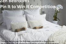 My Zen Bedroom / Welcome to our Pinterest contest!  www.zenbedrooms.com / by Zen Bedrooms