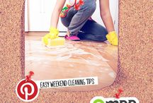 Easy Weekend Cleaning Tips / Stress less about chores with these easy weekend cleaning tips.