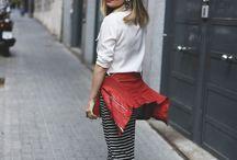 black and white strapped skirt
