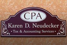 Accounting Signage