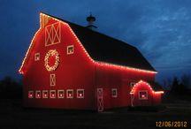 Christmas barns