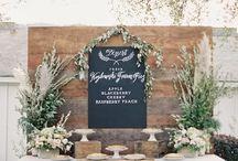 wedding cake table deco