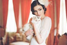 Pets attending your Wedding / Corston Couture - often a couple will have a little (or not so little) animal  friend who goes every where with them, so why not to their wedding too...here are some other couple's pictures with their special pets.