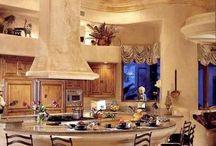 """♔ Belles Cuisines / Beautiful Kitchens  ♔ Bienvenue...S-v-pl Traité Mes """"Tableaux"""" avec Respect. Merci. ● ♔ ● Welcome! ♔ Please pin respectfully. Thank you.♔  / by Misha Alexis"""