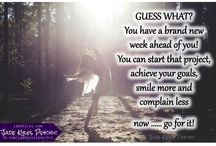 Monday / New Week Quotes ★ Jade Kyles Psychic / Monday Quotes to share. Good morning friends. Blessings, inspiration, positivity and greetings are being sent your way with my Monday Quotes. ♡ Many blessings Jade Kyles Psychic ♡ Thanks for connecting. I would love you to visit me at www.jadekyles.com or on fb at www.facebook.com/jadekylespsychic . You can also subscribe to my channel at www.youtube.com/jadekylespsychic