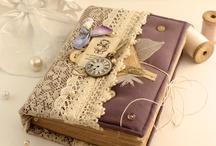 livros com arte / capas artesanais para livros e cadernos