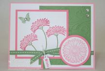 Flower Cards / Reason to Smile, Petal Parade, Bright Blossoms and other flower stamp sets