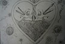 Lenore62'S Skulls Draws