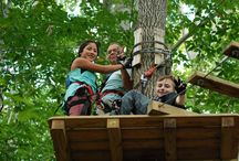 "Connecticut Adventure Park / Are you ready for the best climbing and zip line Connecticut has to offer? The Adventure Park provides family fun for ages 7 and up. The Adventure Park's 11 ""treetop trails"" consist of about 160 platforms installed in the trees and connected by various configurations of cable, wood and rope to form ""crossings"" of different kinds including the ever-popular zip lines. http://www.discoveryadventurepark.org/"