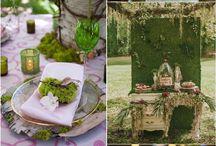 Rustic moss wedding