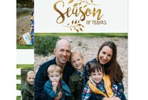 Season of Thanks Thanksgiving and Christmas Holiday Photo Card Collection