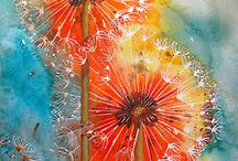 Silk Painting / Ideas for silk/fabric painting