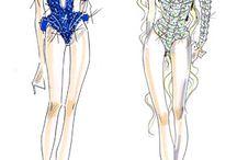 Costume sketchses