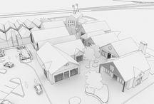 Modélisation de Marques Avenue / Pour créer une image 3D, les étapes sont nombreuses. La 1ère est la modélisation. Cette étape consiste en la création d'une maquette en plâtre permettant de valider le concept et les volumes. Les images issues de ces maquettes seront utilisées, par la suite, pour appliquer les textures, l'éclairage, incruster des personnages, de la végétation... Voici celles réalisées pour Marques Avenue, via l'agence Saguez & Partners, dans l'objectif de créer des images 3D de séduction pour les médias.