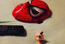 My Insta photos #spiderman #mask #thepowerpuffgirls #mayor #bogármester Tévézünk