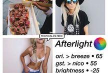 Edição de fotos afterlight