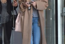 Brown coat outfits