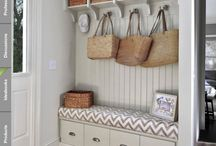 Entrance laundry space ideas
