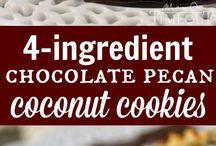 These delicious Chocolate Pecan Coconut Cookies take only 4 ingredients! / These delicious Chocolate Pecan Coconut Cookies take only 4 ingredients!