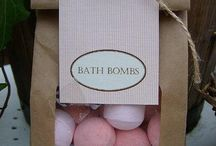 Bath bombs / Bath bomb packaging, designs, recipes