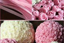 flores papel crepe