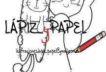 Ilustraciones / Sellos digitales para tarjeteria y proyectos scrapbook