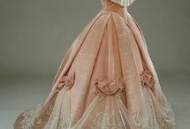 1860s - Crinoline to Bustle Evening Wear