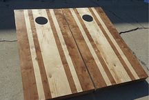Stained Cornhole Boards / There is a posh sophistication that comes from stained wood that cannot be applied to other cornhole board sets. Our stained cornhole boards are beautiful displays of fine premium wood and professional staining that will lend your weekend barbecue an air of delightfully competitive elegance.