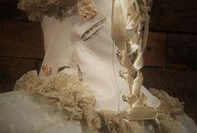 vintage neckcorset / #vintage #neckcorset #bygergo #handmade #white #cream #rose #rosecanina #silktape #silk #leathe #lace #whiteleather