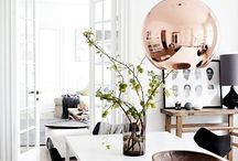 Copper Infusion Interior Design / Over the past year we've seen classic metallic finishes such as chrome and stainless steel take a backseat as warmer, richer metals have crept into the spotlight. Warmer and more inviting than cool steel, but less audacious than full on gold, copper is the perfect material for adding a touch of rustic glamour to your living spaces. Read more on our blog now: http://www.pagazzi.com/blog/copper-infusion