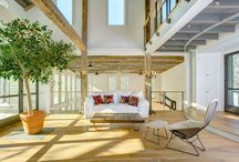 Sharon, Connecticut / Ithaca Style cable railing and custom floating staircase. A charming CT barn gets completely rebuilt into an escape from the bustle of the city.