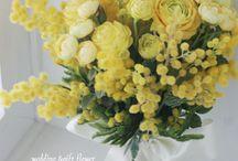 flower / 今日は3月8日 国際女性デーです。イタリアではミモザの日と呼ばれ、花束を贈るのだそう。ありがとう、を言いたい女性に贈りたいですね。