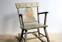 vintage křesla a židle