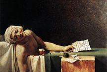 Neoclassicism_1770-1830 / toplumsal gerçekçilik-toplum için sanat-fransız ihtilali,süslemeciliğe tepki,mat pastel renkler,antiquity konular,ışık gölge az, çizgi perspektif