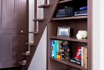 Stair storage/ideas / by Tammy Zeigle