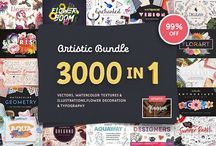 creative market goodies / Fonts, social media templates, pictures, everything you need to start  blog
