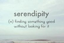 ❥ Serendipity / Finding something good without looking for it.