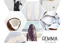 G E M M A  // C R E A T I V E / Moodboards we create based on feelings, things we love and  to create the ultimate Gemma feeling. The hexagon artwork is part of our creative concept.