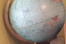 globes and maps and other things to help you figure out where you are / we've also got a great collection of vintage globes and maps throughout the shop.