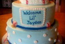 baby boy baby shower baseball theme / Baby boy shower ideas baseball blue / by Jacky Cameron