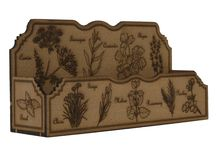 Herb Spice Rack Holder Wooden