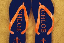 Fun personalised flip flops! / Fab flip flops for summer! Personalised so you are less likely to lose them!