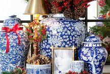 Niebieska porcelana