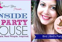 {Flaired Event} Inside the Party House Interview Series / Interviews of Fab Ladies in the Party Business from planners, graphic designers, and crafters..