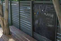 Fences around  the house